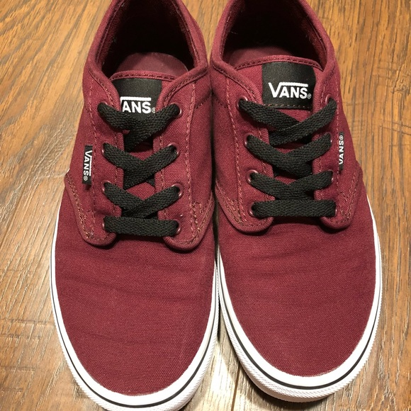 Vans youth 5 (women 6.5) burgundy Atwood sneakers.  M 5b4b8306df0307ce6468ed82 126f3f6f3